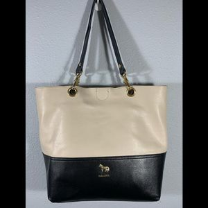 👜 👜 EMMA FOX 👜👜 Two Toned Leather Tote
